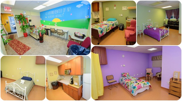 The birthing rooms at The Birthing Center of NY
