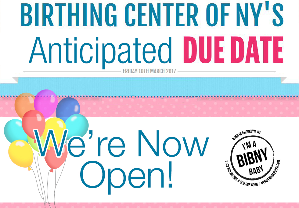 The Birthing Center of NY is open!