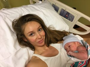 Mom and baby Daniel