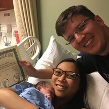 baby calliope born at the birthing center