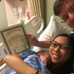 baby calliope born at the birthing center