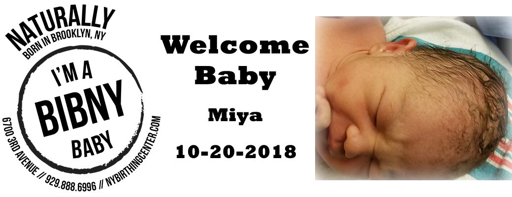 Welcome Baby Miya 10-20-2018