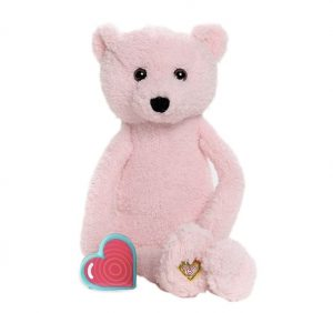 My Baby's Heartbeat Vintage Pink Bear