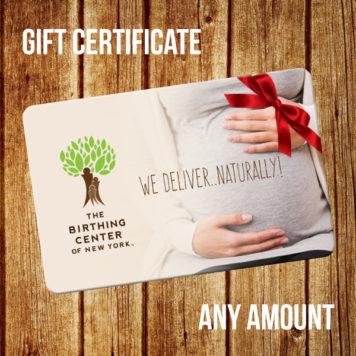 Birthing Center of New York gift certificate