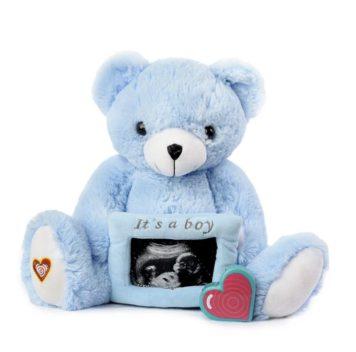 My Baby's Heartbeat Blue Gender Reveal Bear