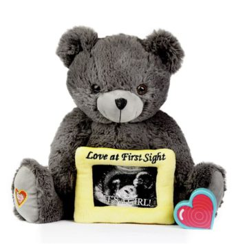 My Baby's Heartbeat Gray Love Bear Kit