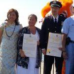 Brooklyn Borough President Eric Adams awards Dr. Lisa Eng