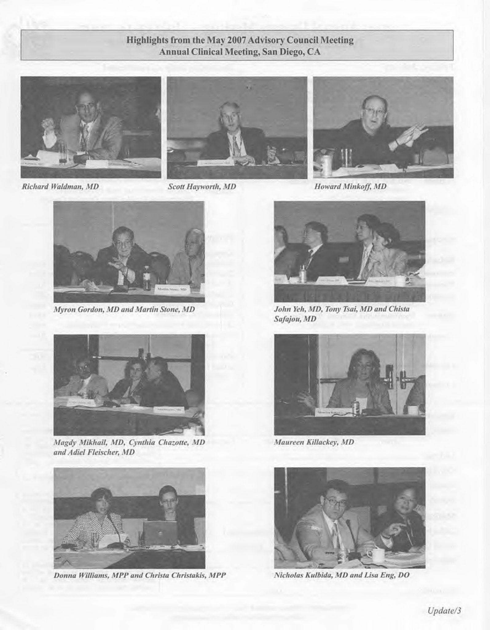 ACOG Advisory Council Meeting 2007