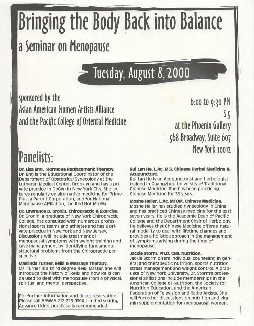Dr. Eng lectures at a seminar on menopause