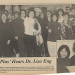 Dr. Eng speaking at a meeting at Lutheran Medical Center