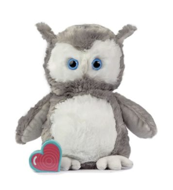 My Baby's Heartbeat Bear Vintage Owl