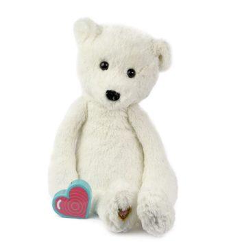 My Baby's Heartbeat Bear Vintage White Bear