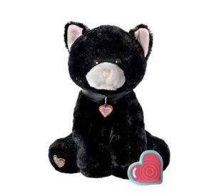 My Baby's Heartbeat Bear Black Kitty
