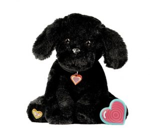 My Baby's Heartbeat Bear Black Puppy