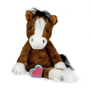 My Baby's Heartbeat Bear Vintage Bay Clydesdale Horse
