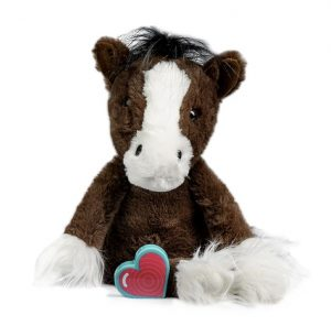 My Baby's Heartbeat Bear Vintage Bay Dark Clydesdale Horse