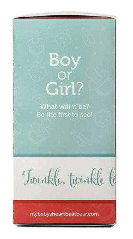 Heartbeat Bear Gender Reveal Box Girl or Boy