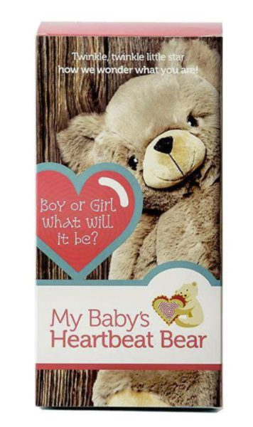 Heartbeat Bear Gender Reveal Box