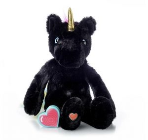My Baby's Heartbeat Bear Vintage Black Unicorn