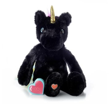 My Baby's Heartbeat Bear Vintage Black Unicorn