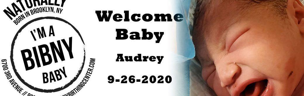 Baby Audrey 9-26-20