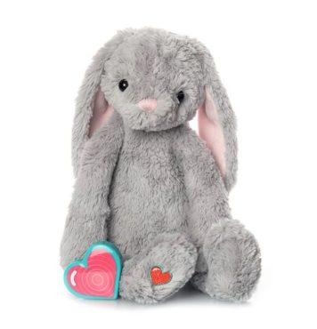 My Baby's Heartbeat Bear Gray Bunny