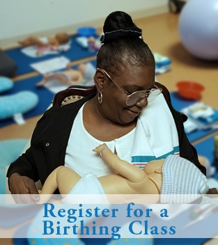 register for birthing class